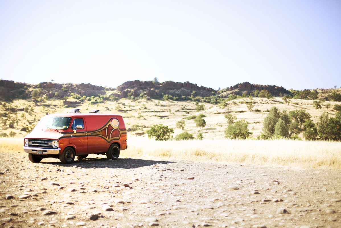 70s van in California landscape by authentic automotive photographer Anthony Georgis | www.anthonygeorgis.com