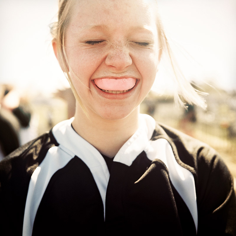 Portrait of a girl with a mouth guard - quikry portraiture photographer Anthony Georgis