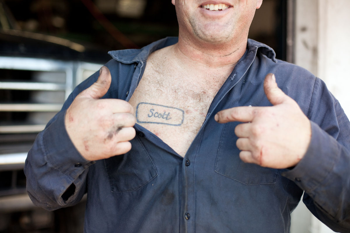 Auto Mechanic with Tattoo - Livermore California