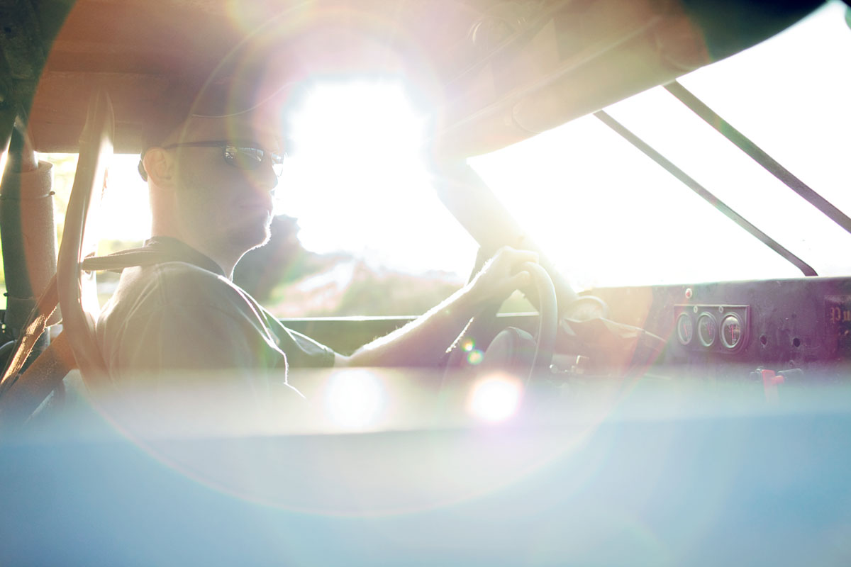 Amature race car driver lens flare by authentic lifestyle photographer Anthony Georgis | www.anthonygeorgis.com